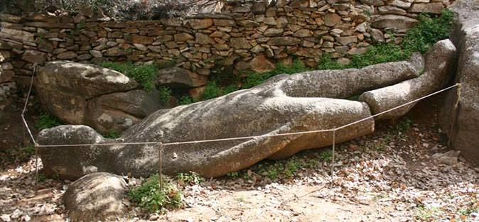 The Kouros at Flerio of Melanes Village